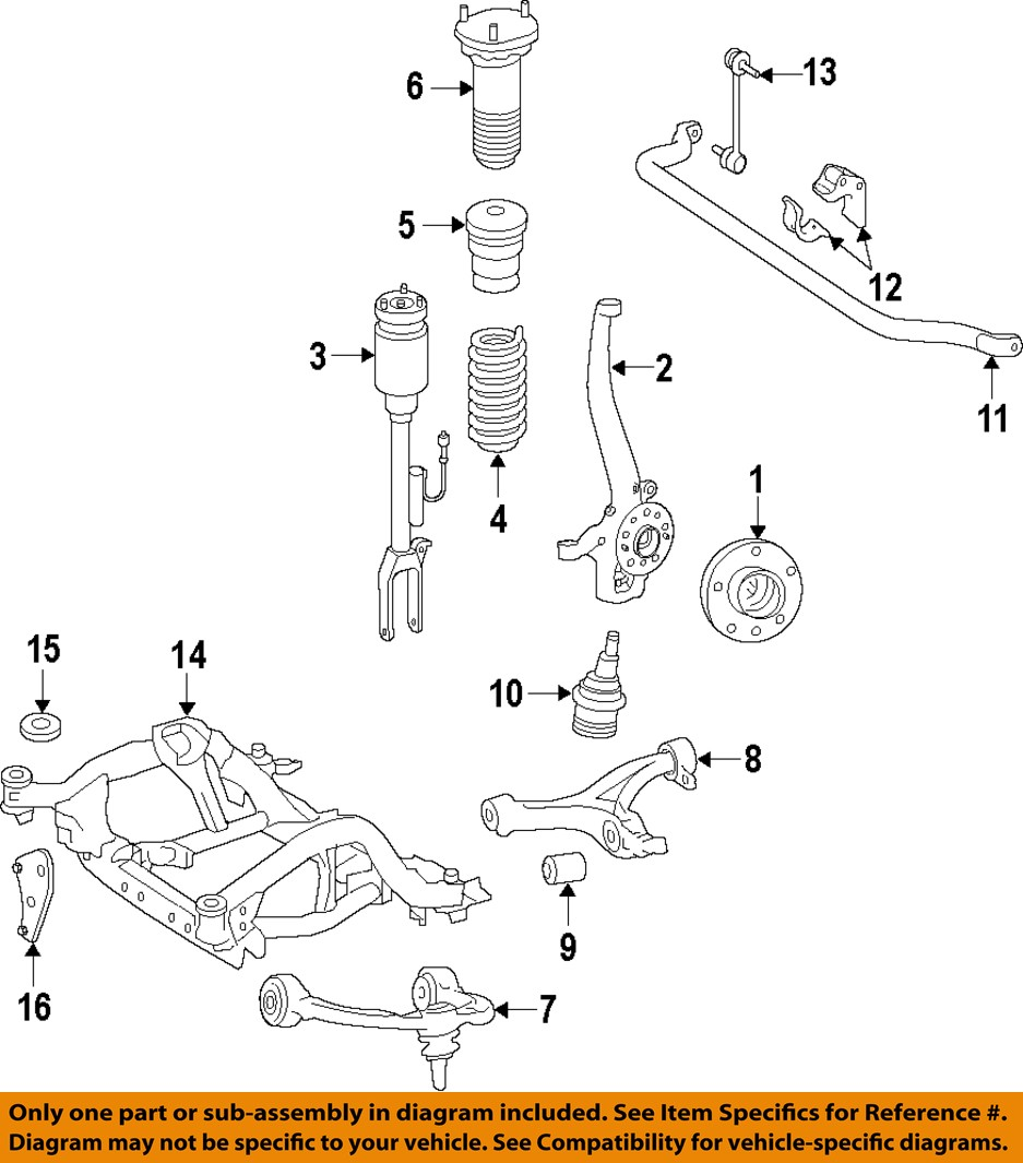 mercedes oem 12 15 ml350 front suspension shock absorber