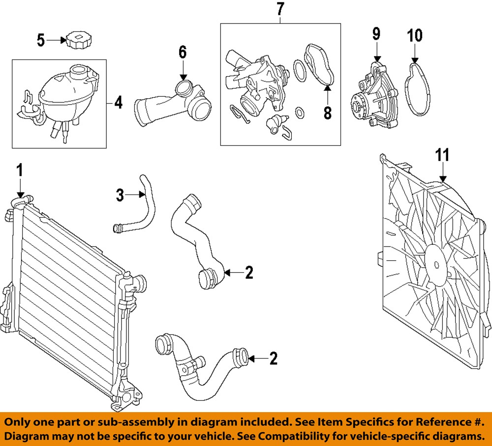 Mercedes oem 12 15 c250 radiator upper hose 2045012582 ebay for Oem parts for mercedes benz