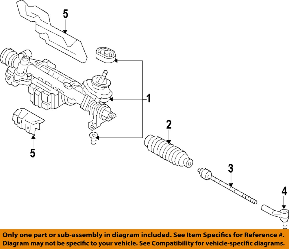 VW VOLKSWAGEN OEM 10-14 Golf-Rack And Pinion Complete Unit