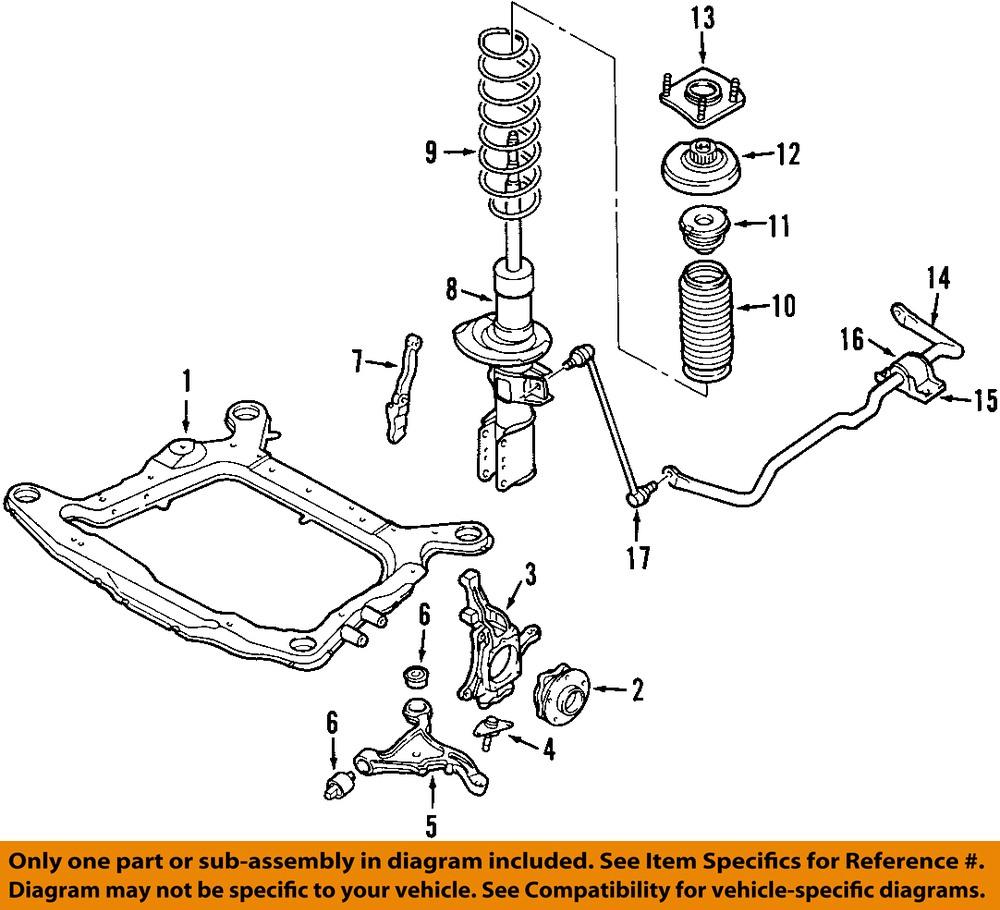 04 07 s60 front suspension strut 30683703 ebay. Black Bedroom Furniture Sets. Home Design Ideas