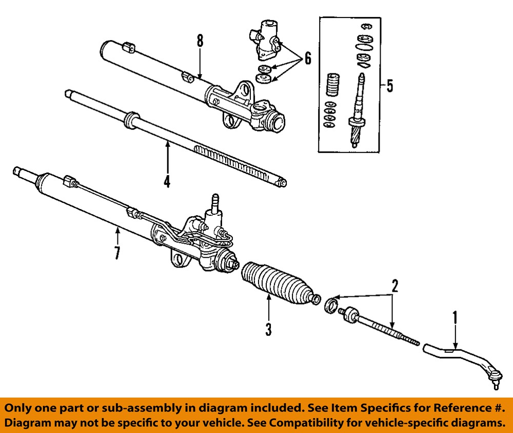 Acura HONDA OEM 01-02 MDX-Rack And Pinion Complete Unit
