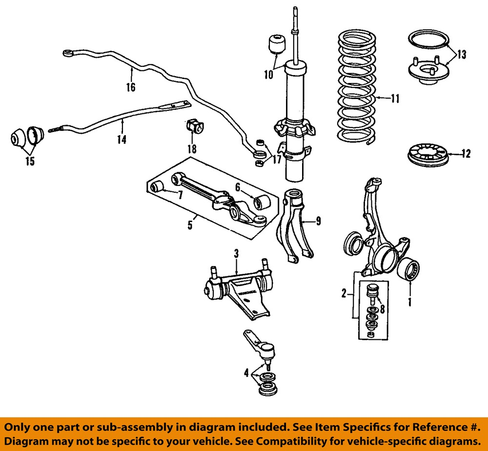 97 I30 Front Suspension Diagram Best Secret Wiring Jeep End Honda Oem 90 Accord Radius Arm Bushing Design