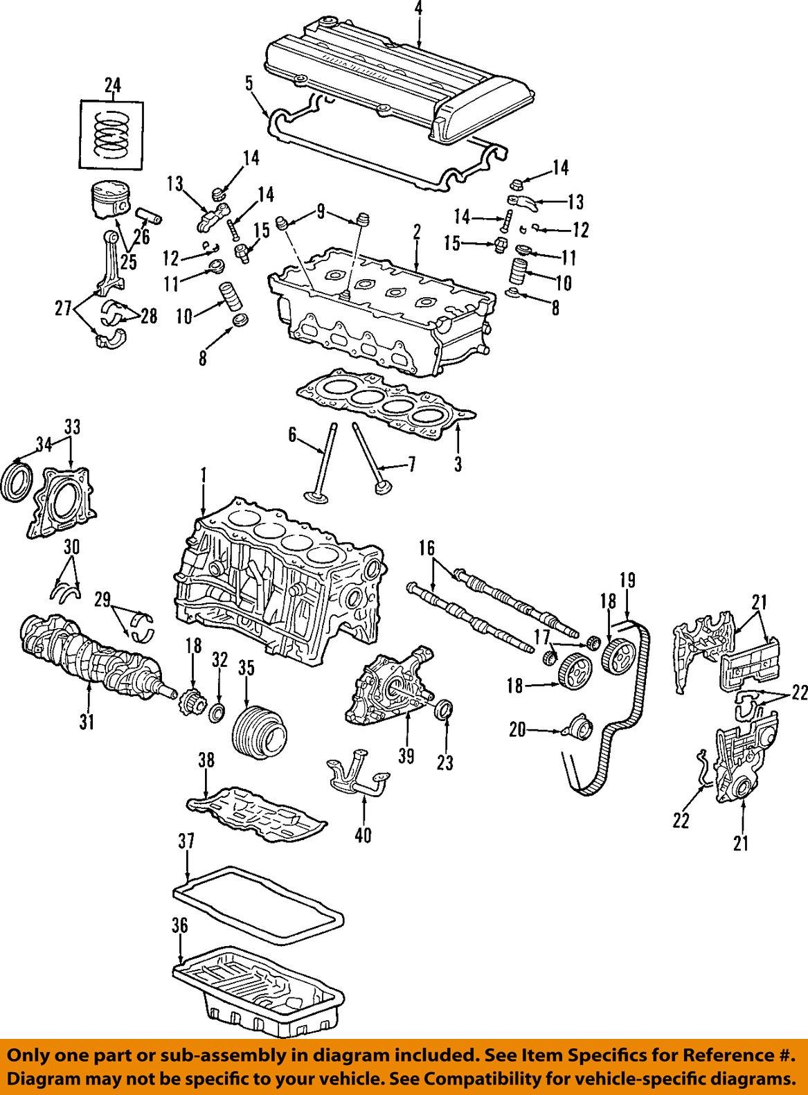 honda oem 97 01 cr v engine cylinder head gasket. Black Bedroom Furniture Sets. Home Design Ideas