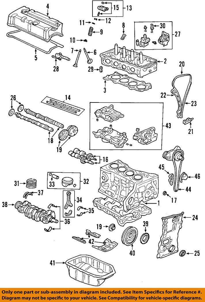 dodge 4 7l engine diagram honda oem-engine timing camshaft gear 14310rbc003 | ebay