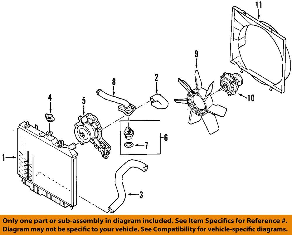 isuzu oem 98 03 rodeo radiator cooling fan blade 8971722010 84 43 rh picclick com 1999 isuzu rodeo cooling system diagram 2002 isuzu rodeo cooling system diagram