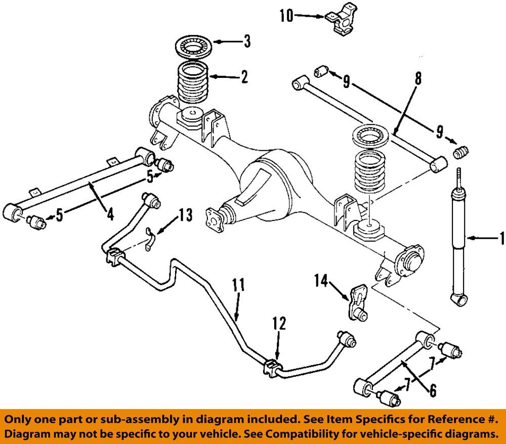 Isuzu Trooper Front End Diagram Wiring Diagrams Car Rodeo 2002 Oem 02 03 Sport Suspensi U00f3n Trasera Suspension