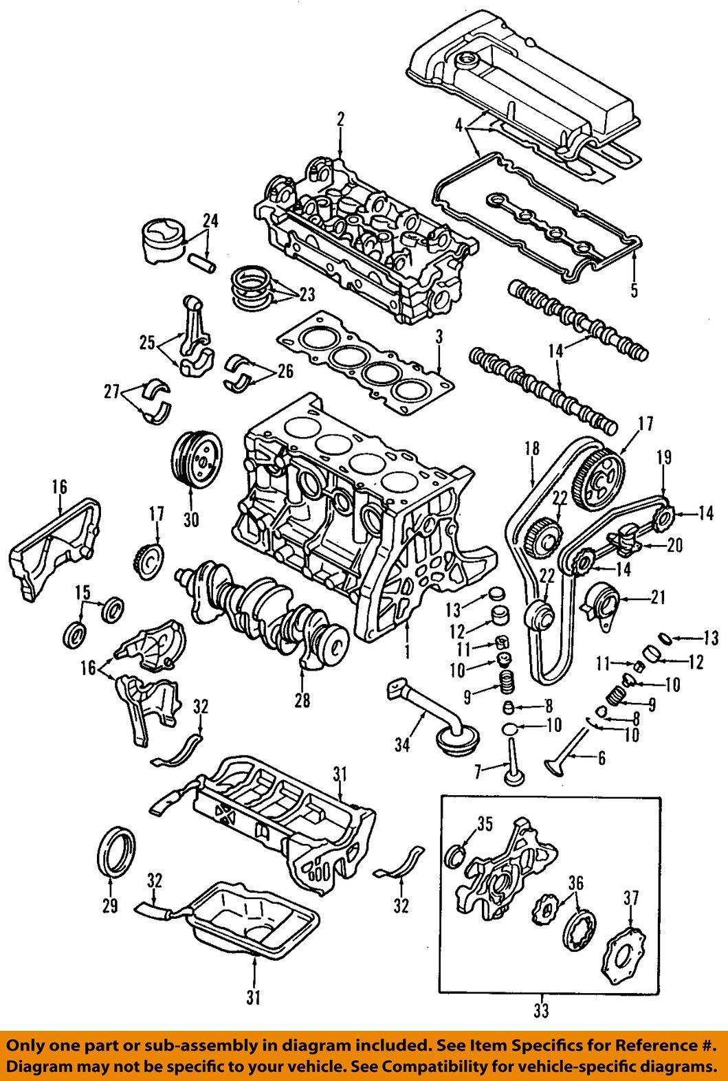 mazda oem 95 01 protege engine gasket b3c710602a