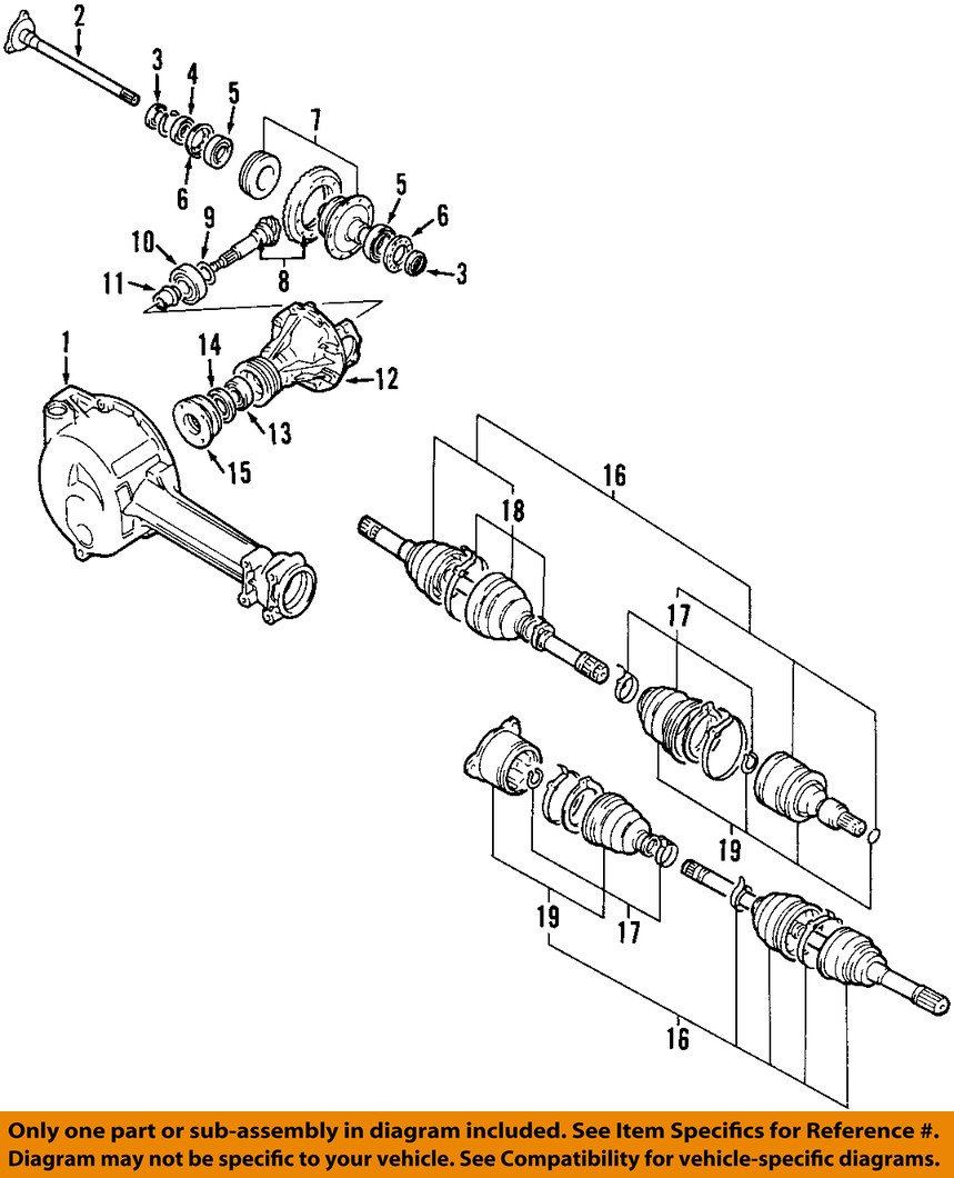 Suzuki Samurai Front Axle Diagram Wiring Diagrams And Differential Exploded View Pictures Oem 89 98 Sidekick Rear Pinion Jimny 2008 Dodge Charger