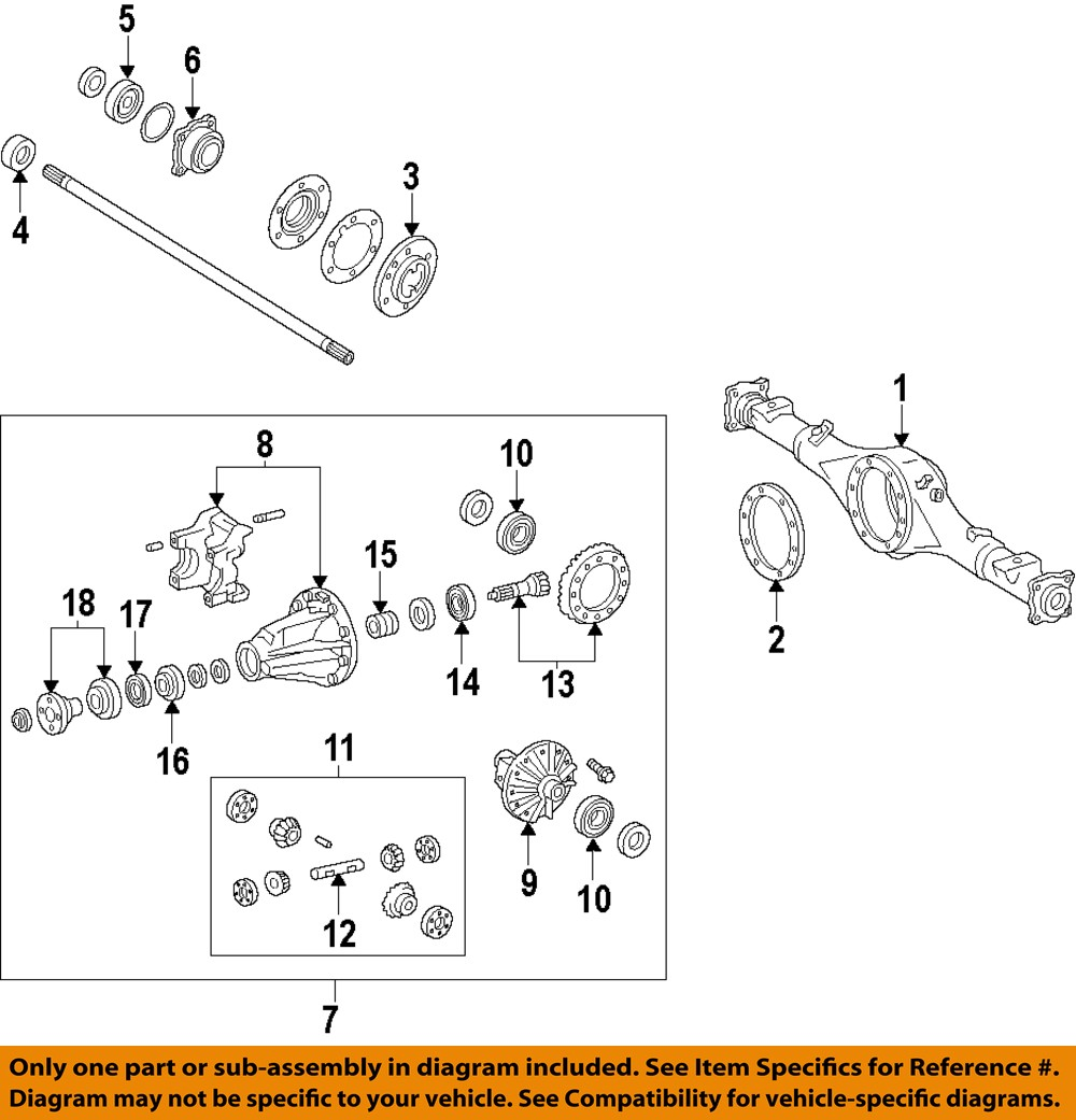 Fj Front Axle Diagram Automotive Wiring Chevy 4x4 Toyota Oem 2007 Cruiser Rear Carrier Assembly