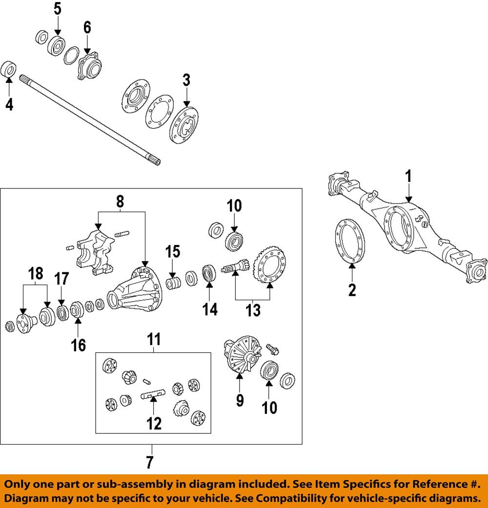 dana 44 rear axle diagram toyota oem 2007 fj cruiser rear axle-carrier assembly ... toyota axle diagram