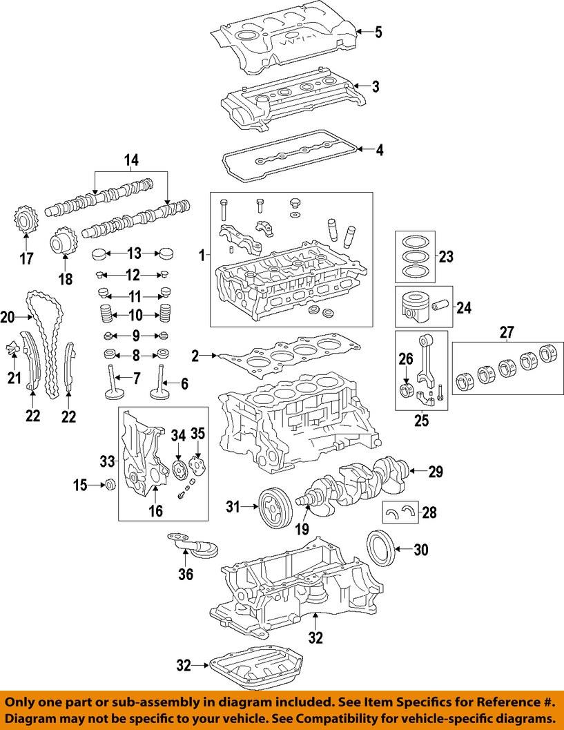 toyota rav4 2011 2015 12101 0v030 2 5l 2arfe 4 cyloem ... 04 toyota rav4 engine diagram #13