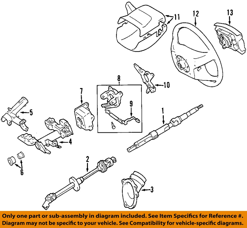 OEDIAG2_F815080 sell toyota oem 00 06 tundra steering column upper bracket