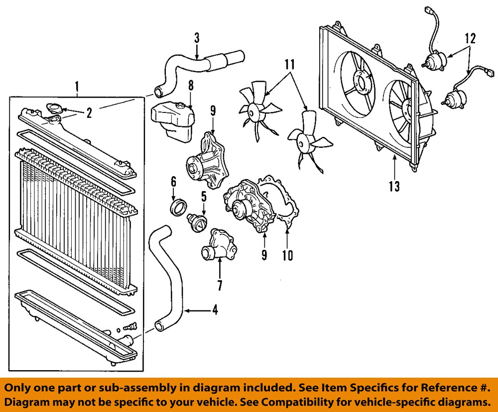toyota oem 01 07 highlander radiator upper hose 1657120050. Black Bedroom Furniture Sets. Home Design Ideas