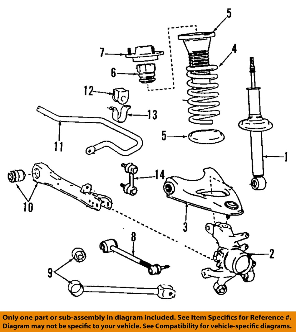 lexus toyota oem gs rear suspension strut
