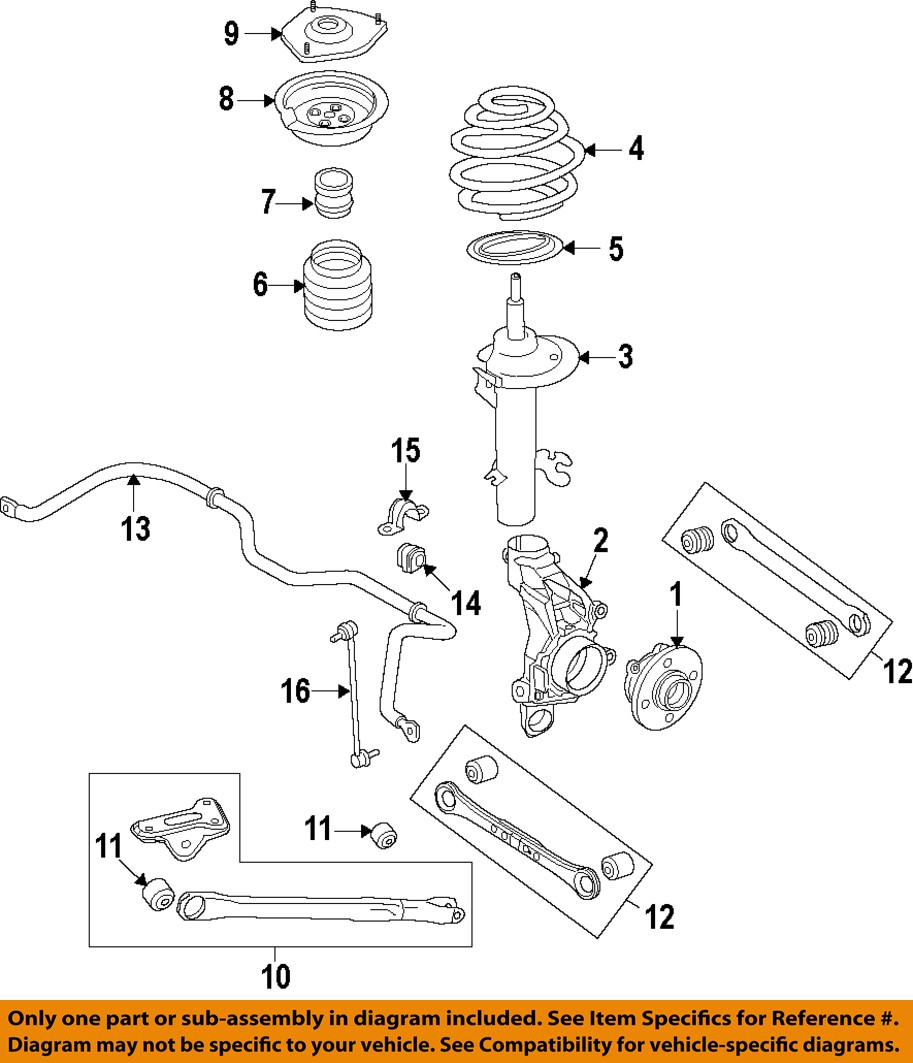 LAND ROVER OEM 12-15 Range Rover Evoque Rear-Lower Control