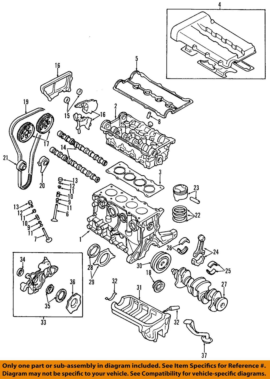 Purchase Kia Oem 95 97 Sephia Engine Crankshaft Main Bearing Crank Diagram Kk1y011sg0