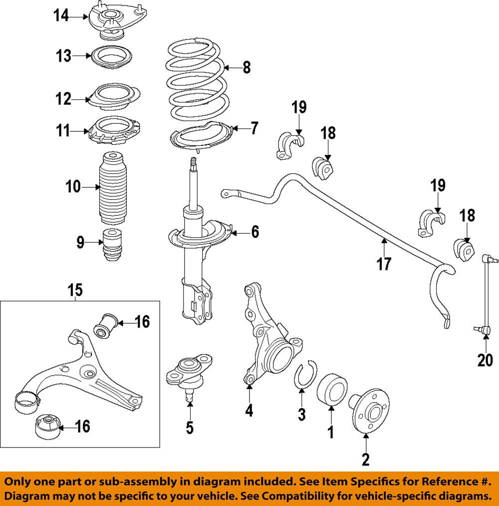 Kia Oem 11 13 Sportage Front Suspension Lower Ball Joint