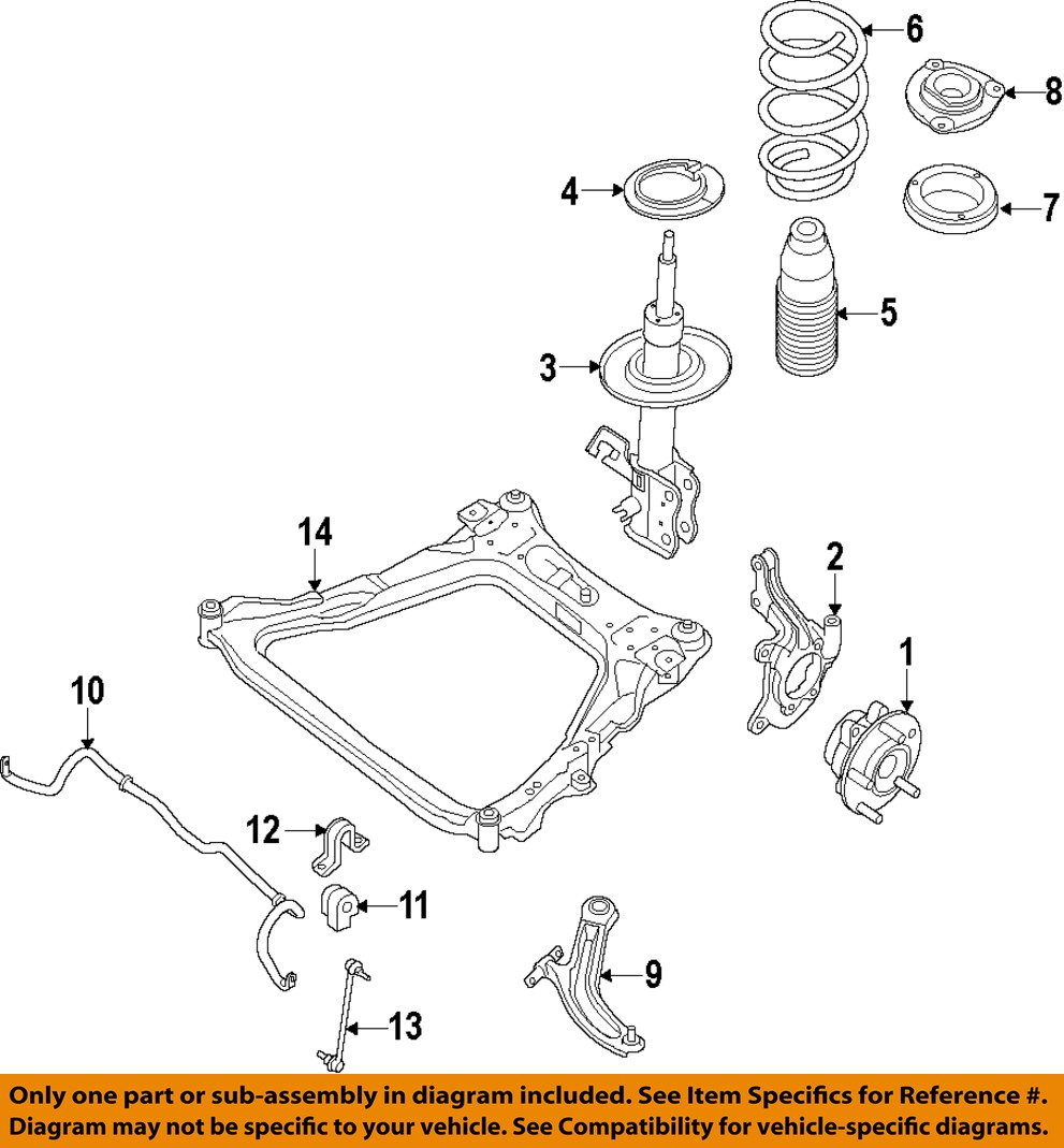 nissan chassis diagram 2006 f150 chassis diagram nissan oem 2014 sentra front suspension-strut e43029am0a ...