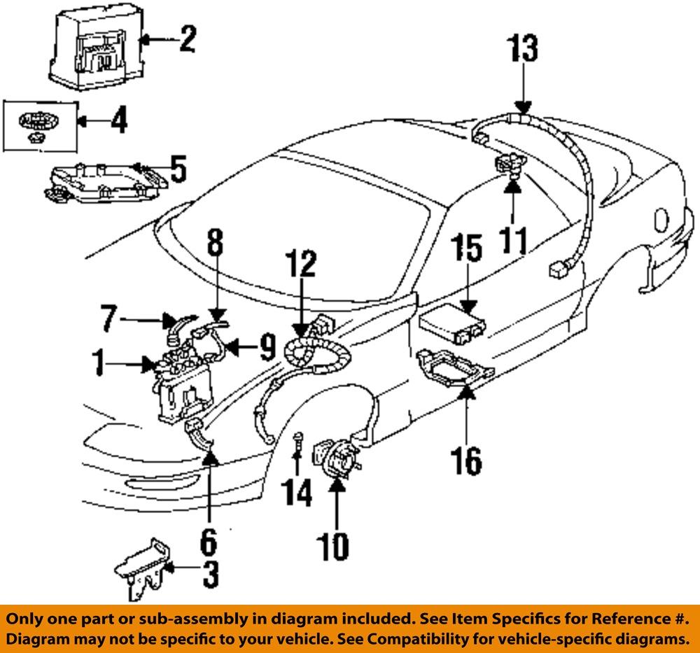 Pontiac Brakes Diagram : Pontiac gm oem firebird abs anti lock brakes wire wiring