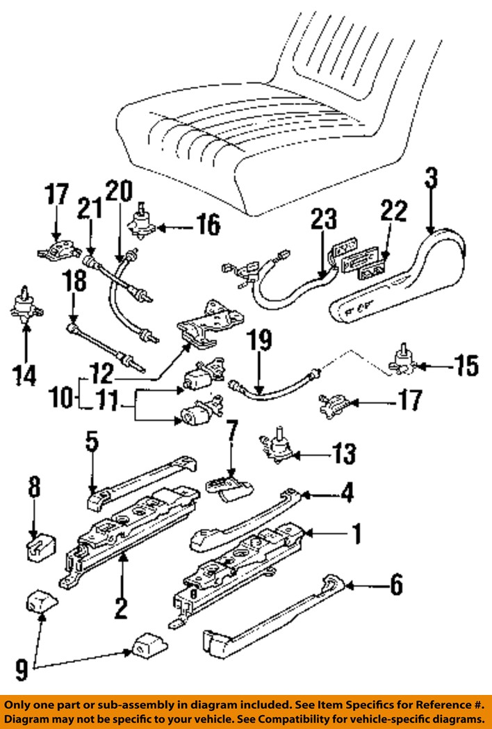 gm oem power seat track motor 22138358 ebay
