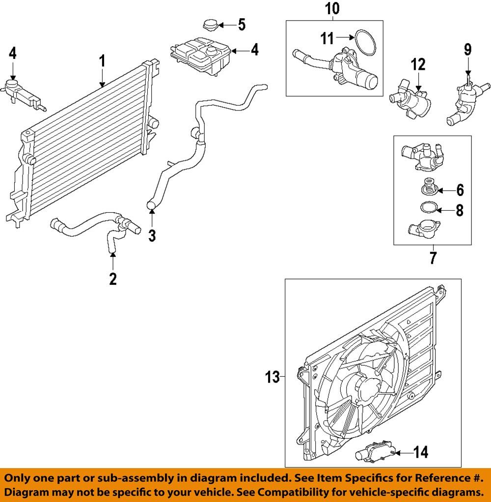 ford oem-radiator dg9z8005c ford radiator diagram #2