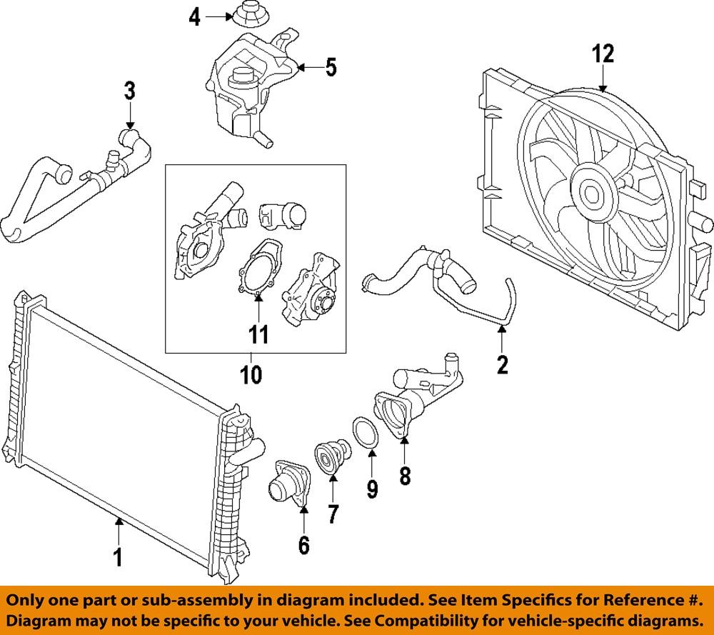 Ford Oem Radiator Upper Hose 9e5z