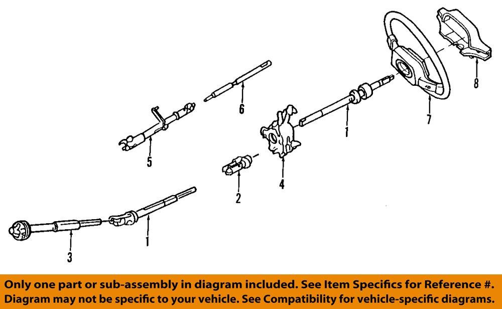 New Oem Lower Steering Column Shaft 95