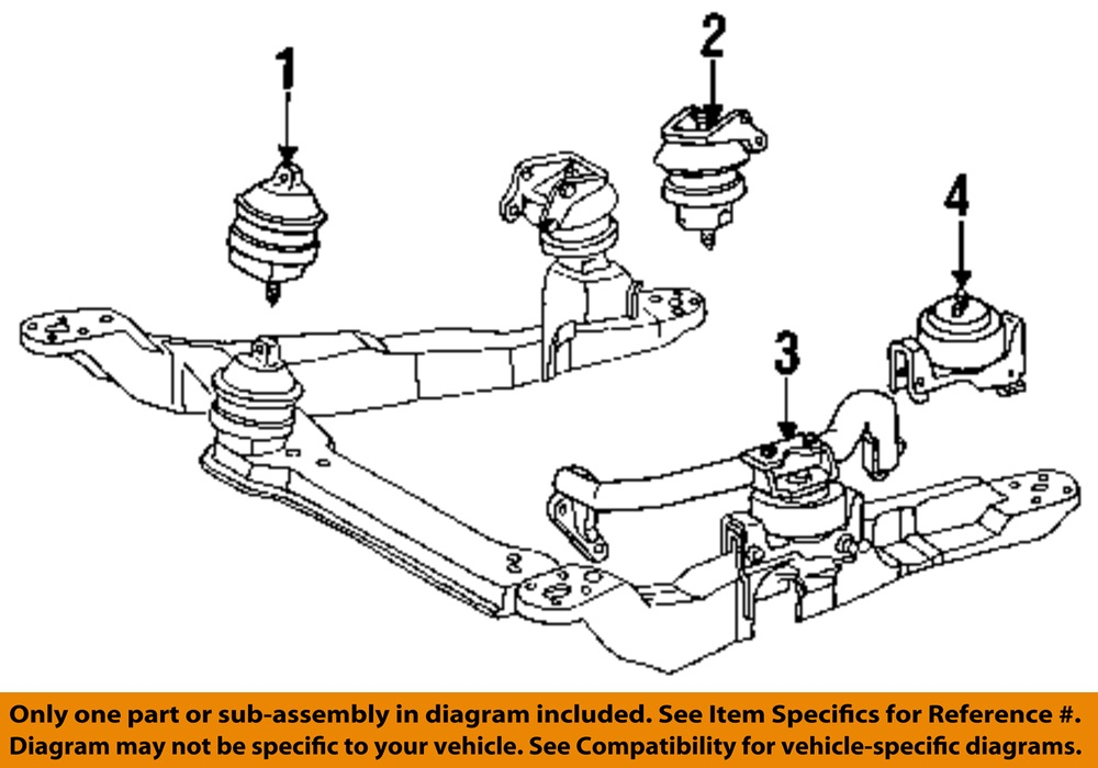 ford oem engine motor mount front f4dz6038a ebay
