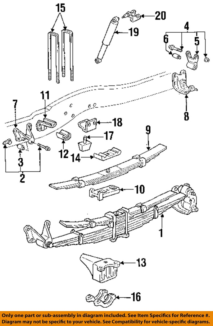 ford oem 96-97 f-350 rear suspension-spring assembly bracket e7tz5775a nissan leaf engine diagram ford leaf spring diagram