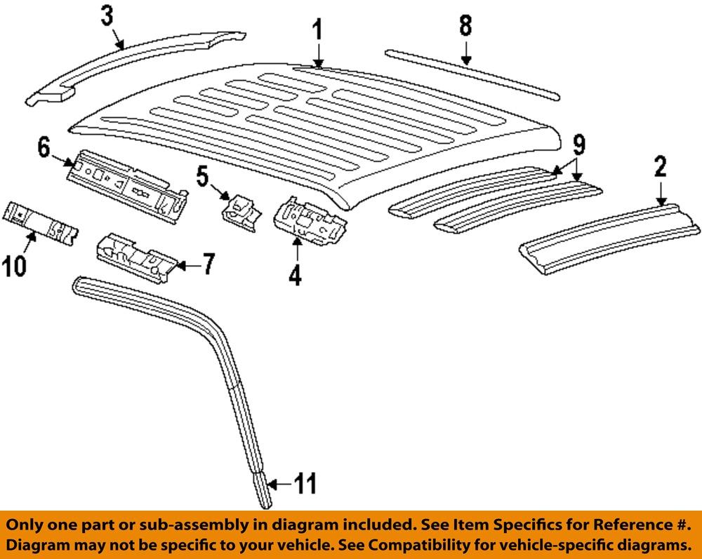 ford oem 99 02 f 250 super duty roof panel f81z2650202ba. Black Bedroom Furniture Sets. Home Design Ideas