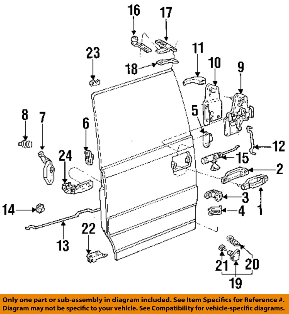 FORD OEM 86-97 Aerostar Side Sliding Door-Latch