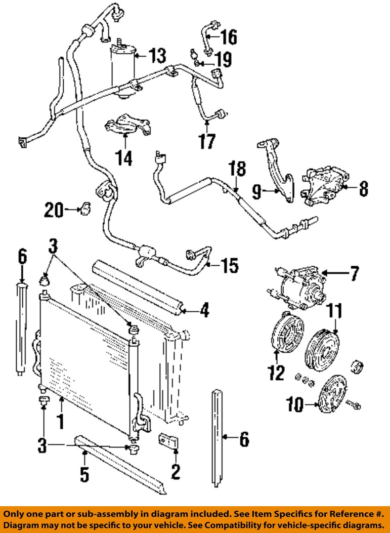 Ac Condenser Diagram Wiring Will Be A Thing C Parts Ford Oem Windstar Compressor Line Rear Car