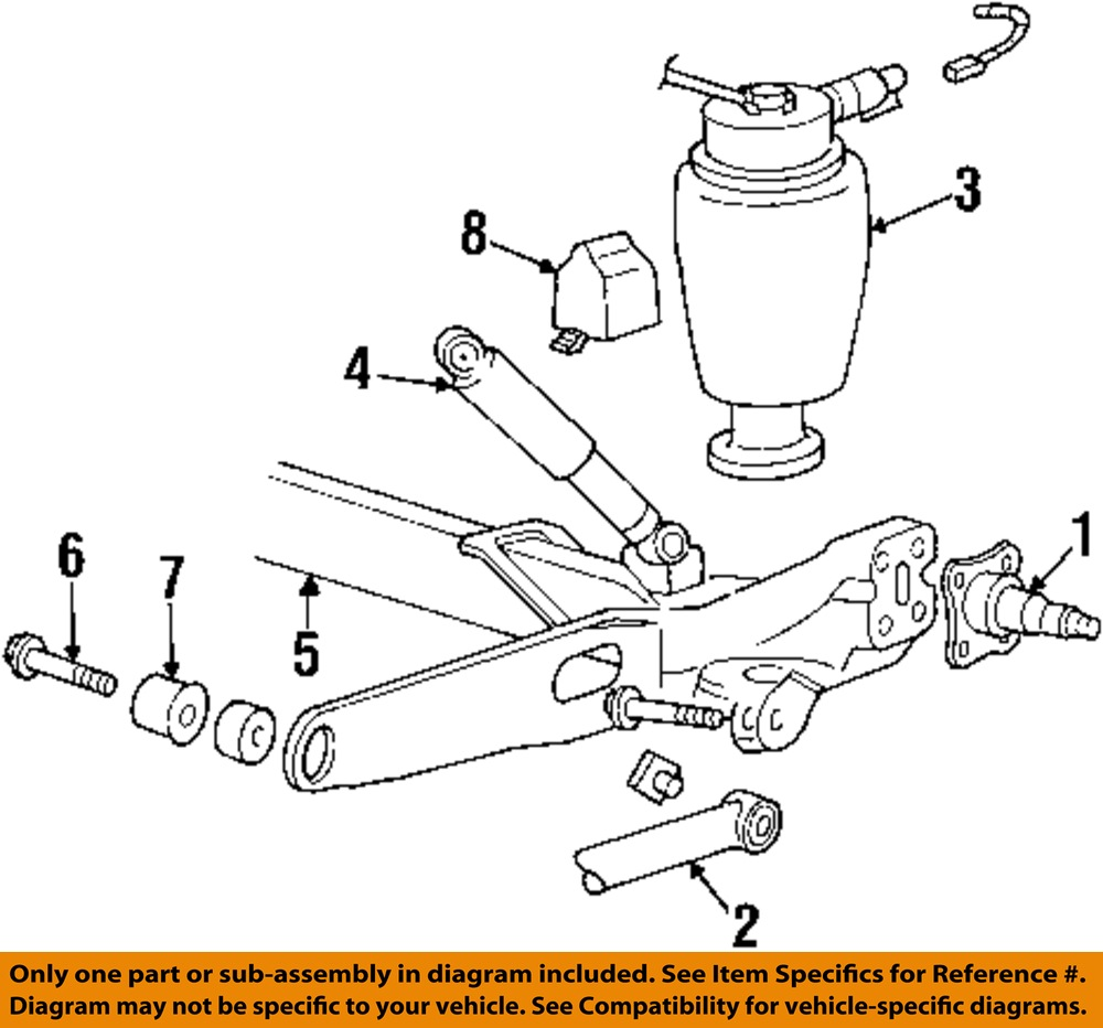ford oem 95 03 windstar rear suspension axle beam bolt. Black Bedroom Furniture Sets. Home Design Ideas