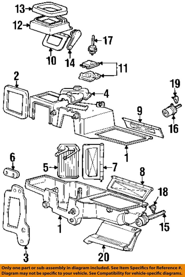 mercury ford oem 99 01 mountaineer evaporator heater motor. Black Bedroom Furniture Sets. Home Design Ideas