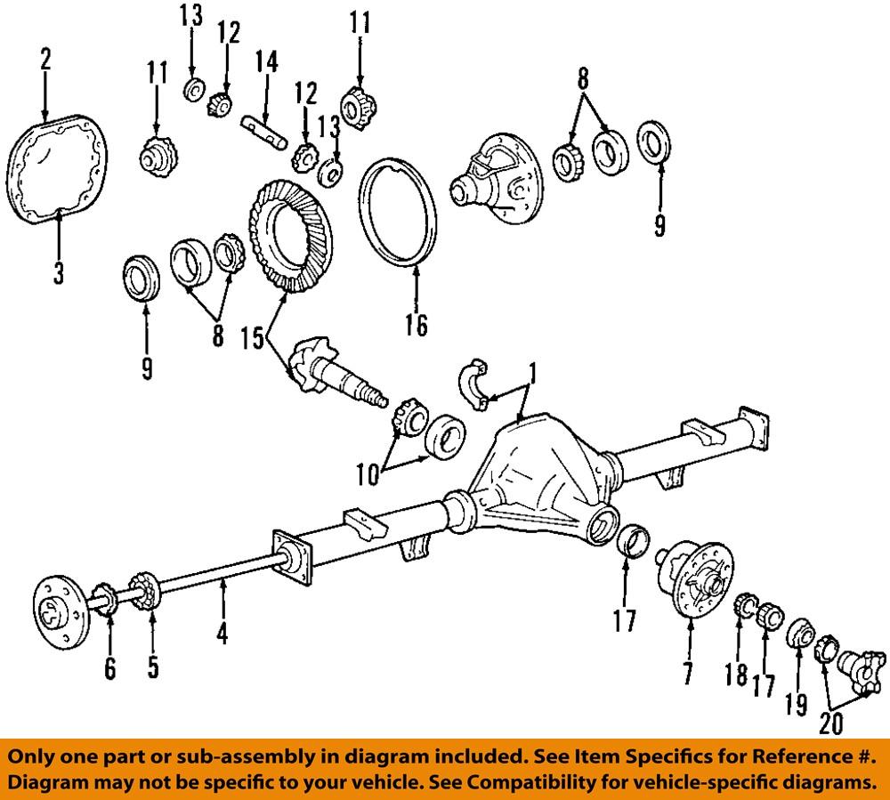 FORD OEM Rear-Axle Seals E3TZ1S177A | eBay