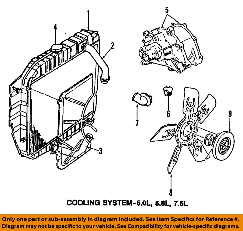 FORD-OEM-94-96-Bronco-Engine-Cooling-Fan-