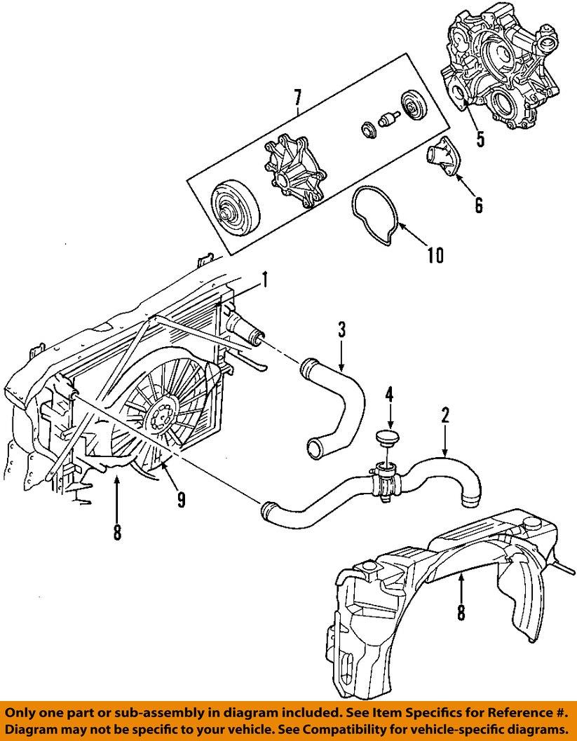 dodge chrysler oem 01 04 dakota radiator upper hose. Black Bedroom Furniture Sets. Home Design Ideas
