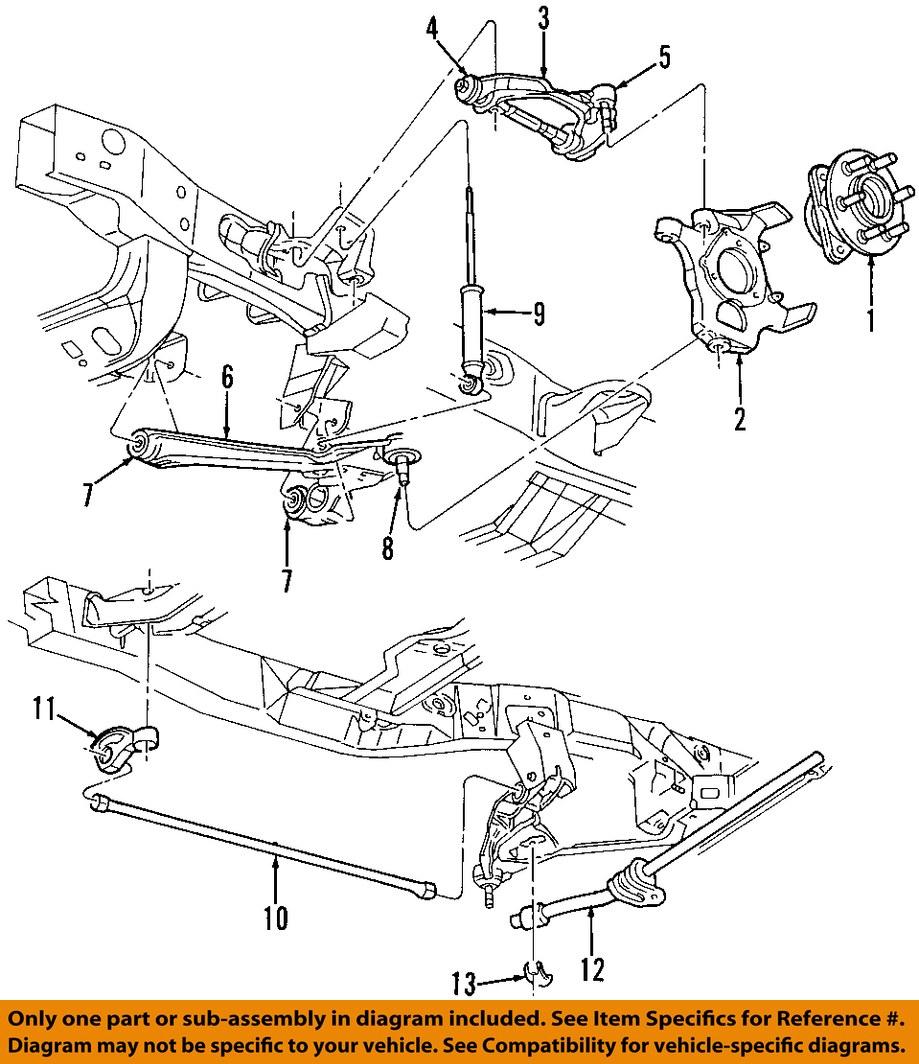 dodge chrysler oem 97 04 dakota front suspension hub. Black Bedroom Furniture Sets. Home Design Ideas