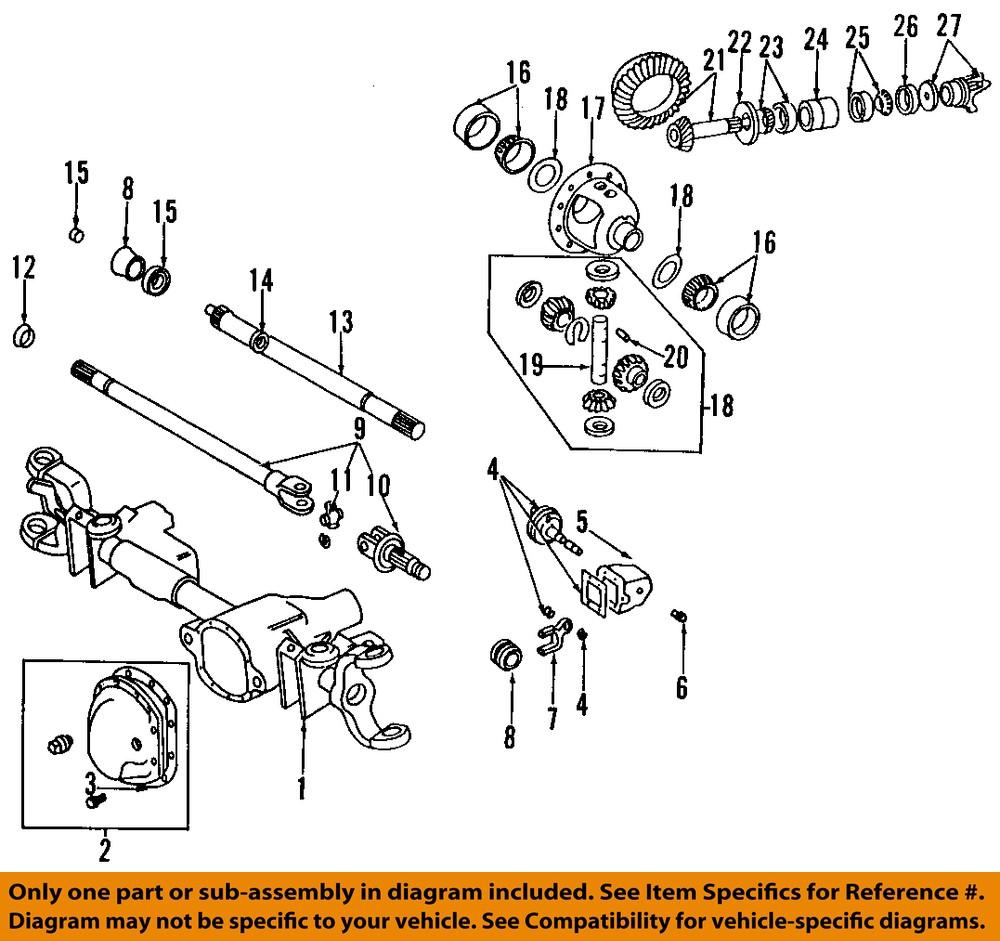dodge chrysler oem 94 99 ram 1500 front axle seals 4116366. Black Bedroom Furniture Sets. Home Design Ideas