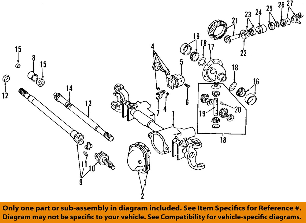 Dodge 3500 Front Axle Diagram : Dodge chrysler oem ram front axle intermediate