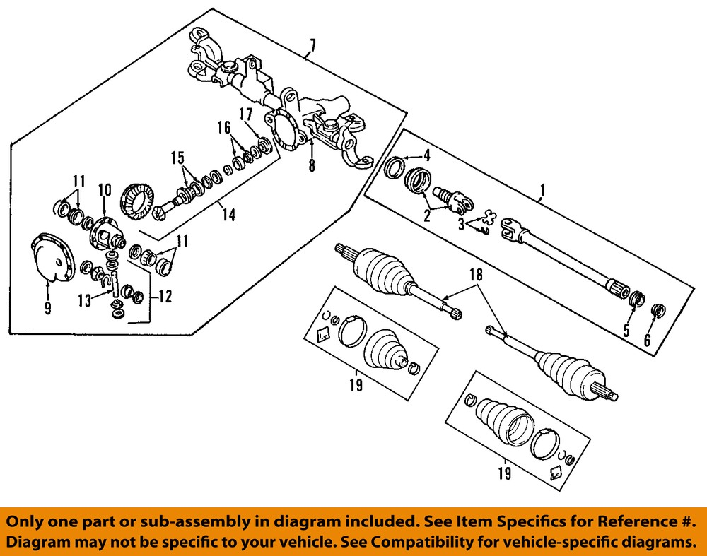 1993 Jeep Grand Cherokee Shafts Front Axle Mopar Parts Giant Cv Joint Diagram Rh Or Lh Boot Kit Fits 04
