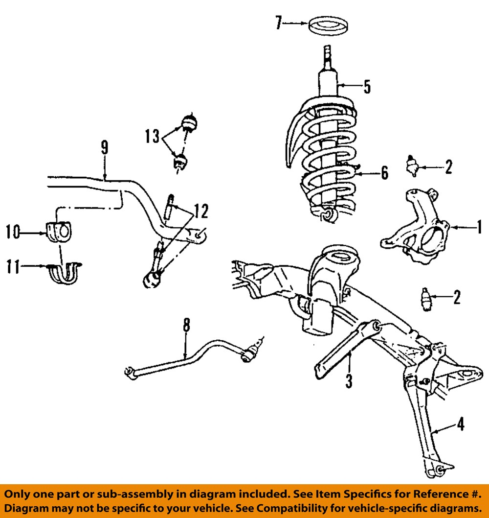 Dodge CHRYSLER OEM 03-07 Ram 3500 Front Suspension-Track Bar ...