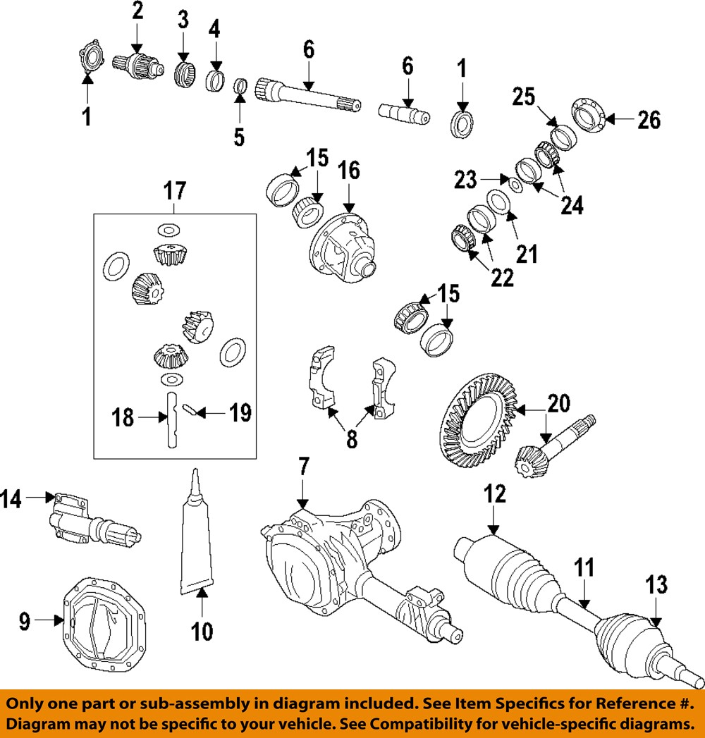 Dodge Ram Front Axle Diagram : Dodge ram front axle output stub shaft ae oem