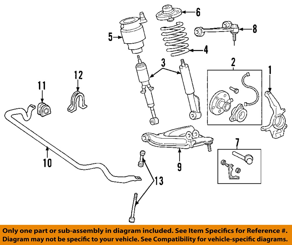 FORD OEM 03-06 Expedition Front Suspension-Shock Absorber ...