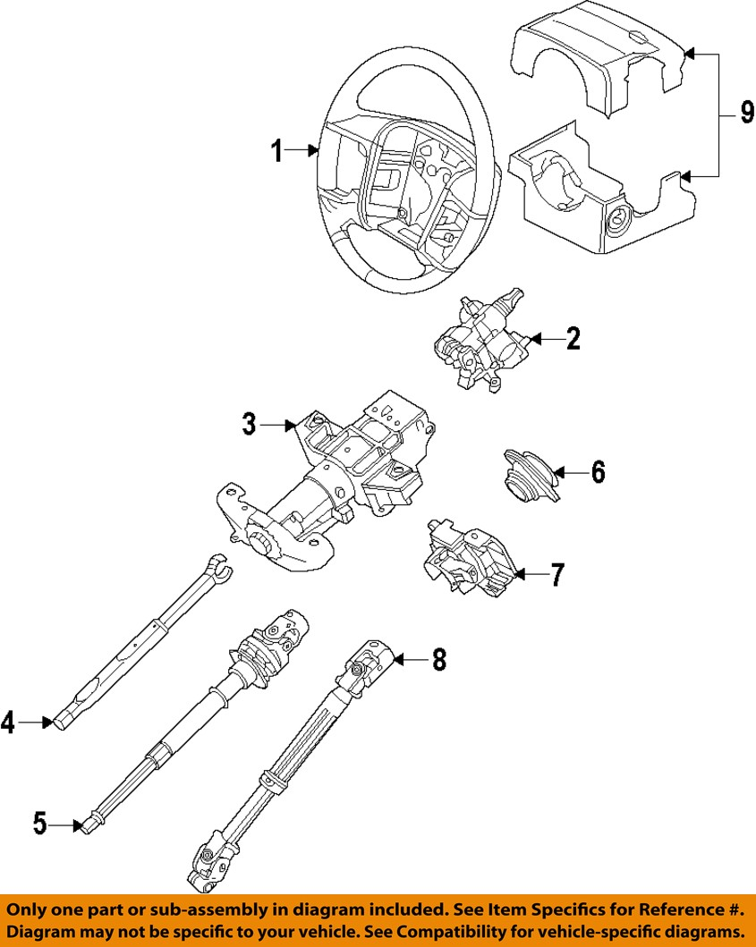 ford econoline steering column diagram ford oem steering column-lower shaft 8l1z3b676a 1970 ford truck steering column wiring diagram #13