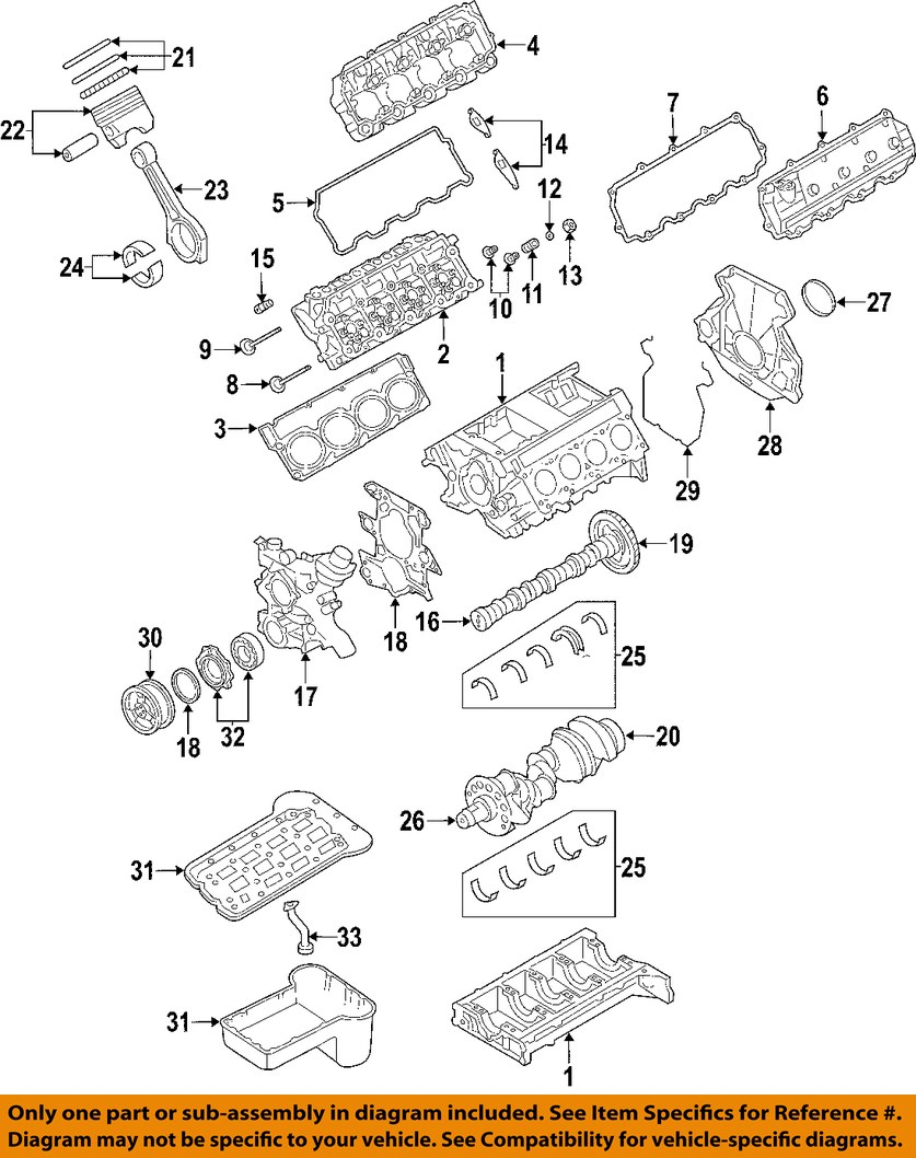 ford oem 04 10 e 350 super duty engine cylinder head. Black Bedroom Furniture Sets. Home Design Ideas