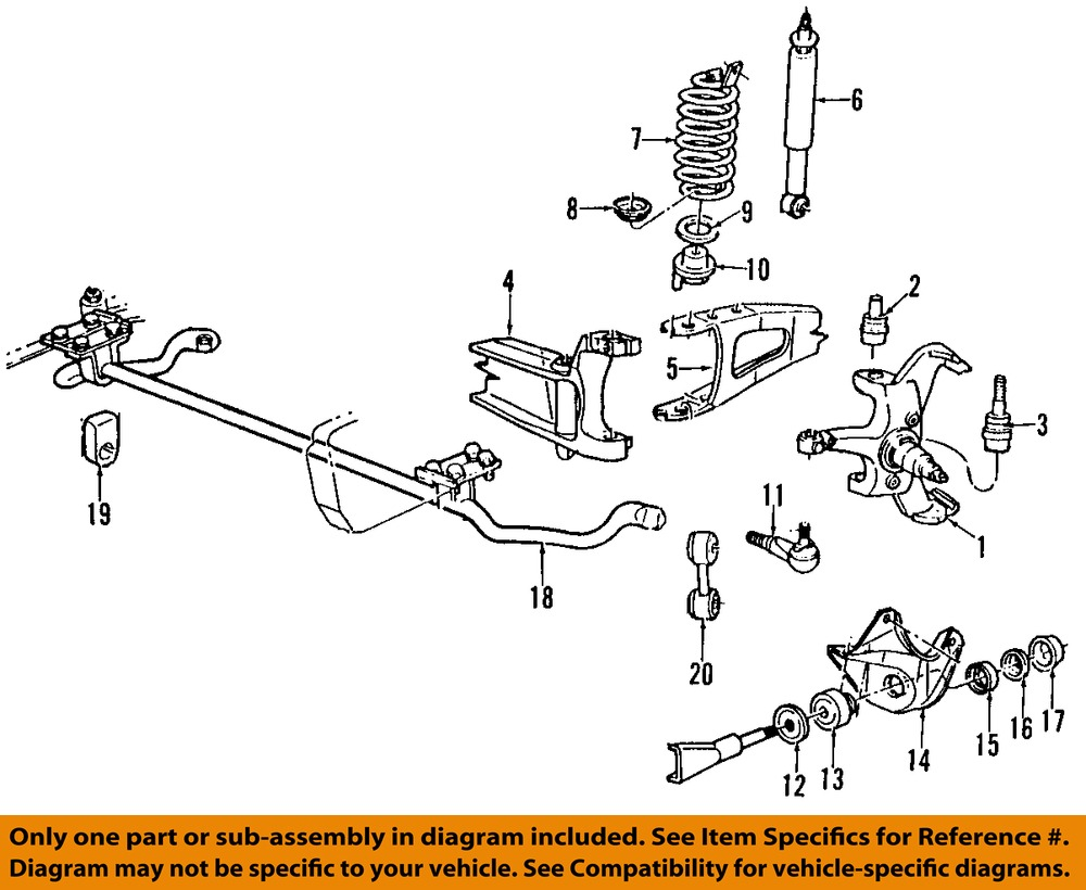 ford oem 92 96 f 150 front suspension mounting bracket e1tz3b095b  : suspension diagram ford f150 - findchart.co