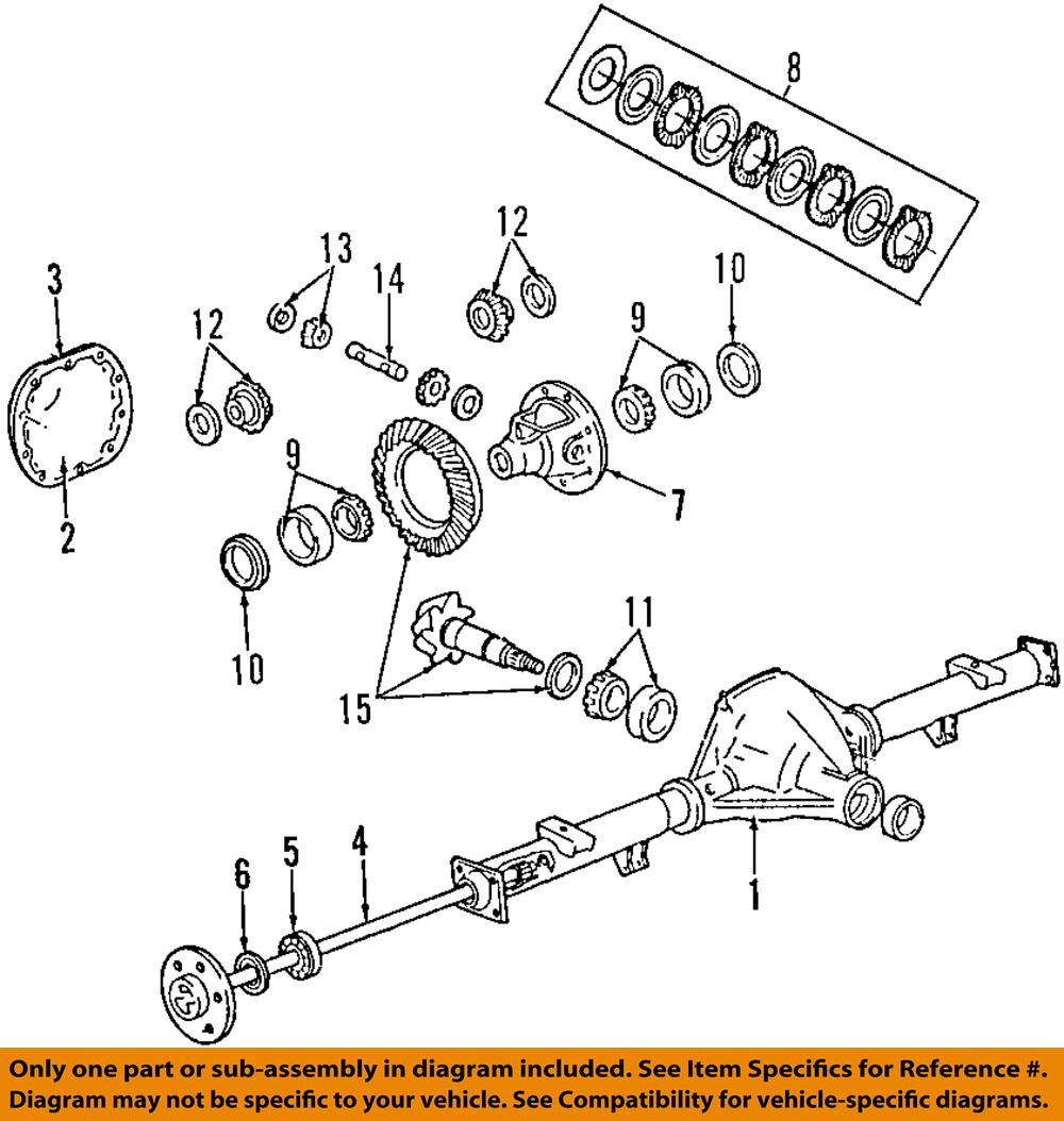 Ford Rear Axle Parts : Ford oem e super duty rear axle bearings