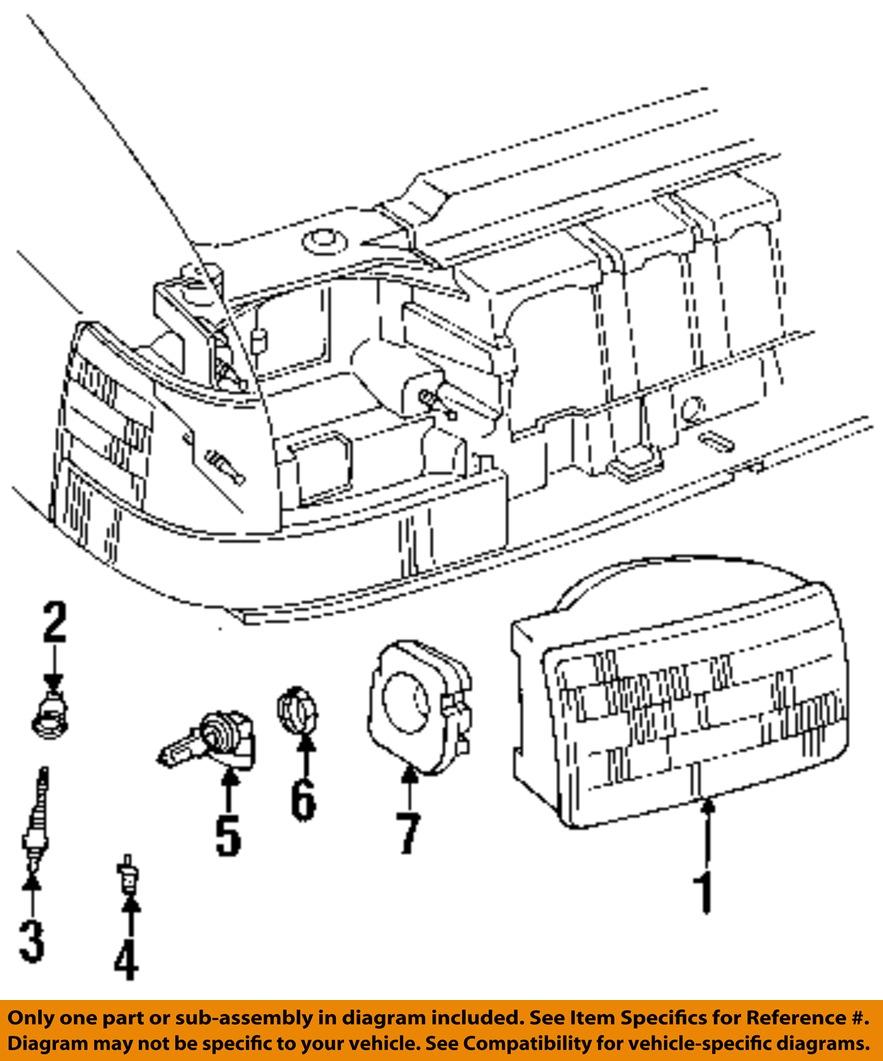 jeep chrysler oem 93 96 grand cherokee headlight head. Black Bedroom Furniture Sets. Home Design Ideas