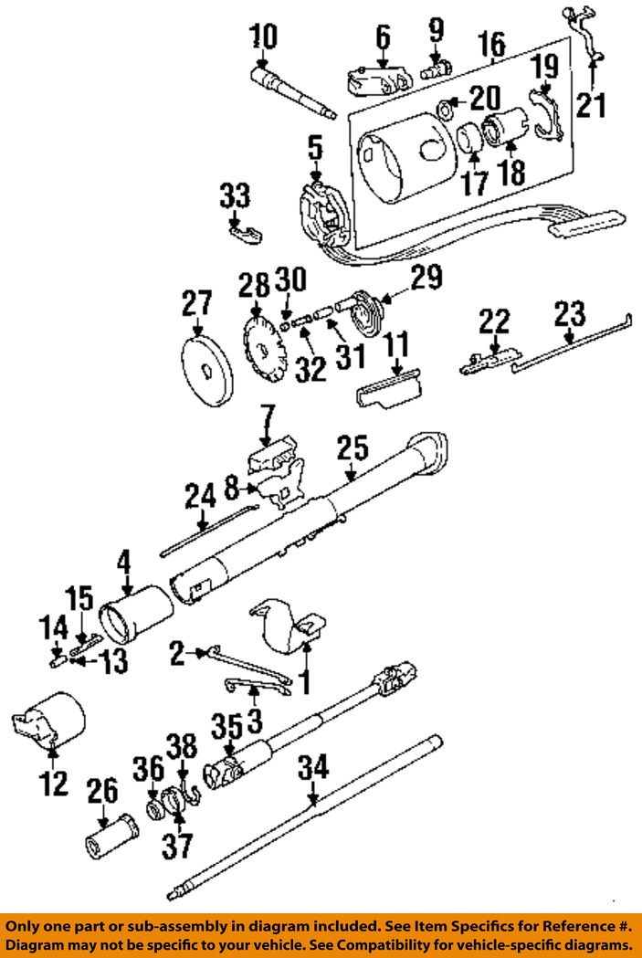 jeep chrysler oem 1994 cherokee steering column-cancel ... jeep xj engine components diagram